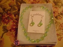 Crystal-Like Beaded Necklace & Matching Earring Gift Boxed Set in Kingwood, Texas