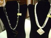 2 Identical Necklaces -- One White -- One Black in Houston, Texas